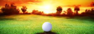 golf at sunset